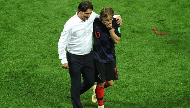 Coach Zlatko Dalic with star man and captain Luka Modric.