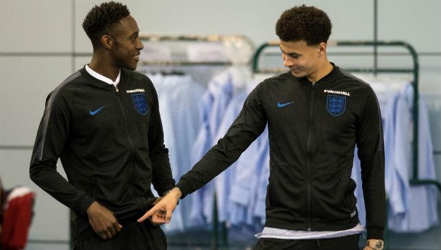 Dele Alli (R) and striker Danny Welbeck