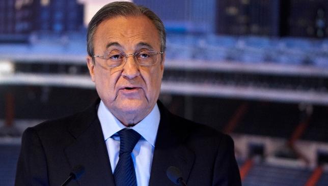 Real Madrid Club Präsident Florentino Perez