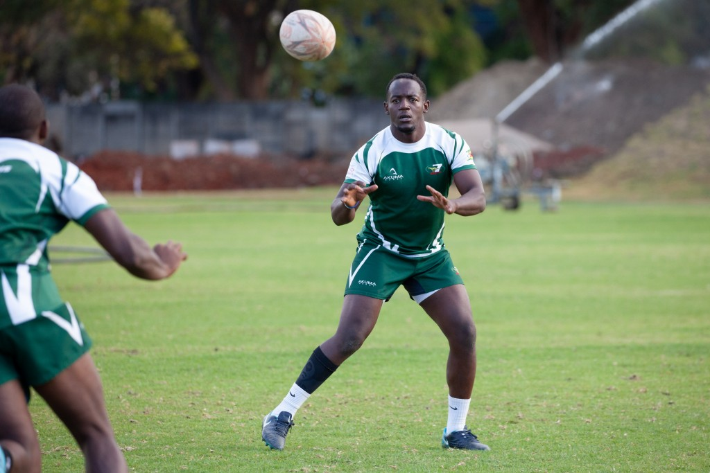 Zimbabwe's Shayne Makombe who was crowned Player of The Tournament at the Rome Sevens