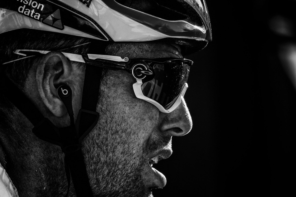 Great Britain's Mark Cavendish is pictured during the eleventh stage of the 105th edition of the Tour de France cycling race between Albertville and La Rosiere, French Alps, on July 18, 2018. - Cavendish crossed the finish line on July 18 after the time cut. (Photo by PHILIPPE LOPEZ / AFP) / BLACK AND WHITE VERSION (Photo credit should read PHILIPPE LOPEZ/AFP/Getty Images)