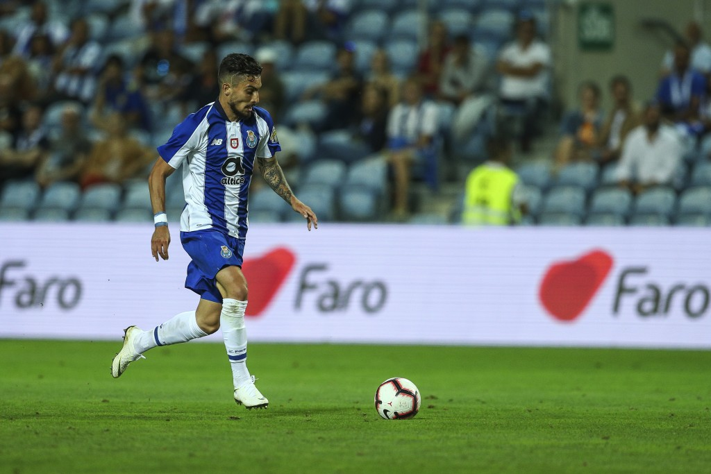 FARO, PORTUGAL - JULY 20: FC Porto defender Alex Telles from Brazil during the match between FC Porto v LOSC Lille for Algarve Football Cup 2018 at Estadio do Algarve on July 20, 2018 in Faro, Portugal. (Photo by Carlos Rodrigues/Getty Images)