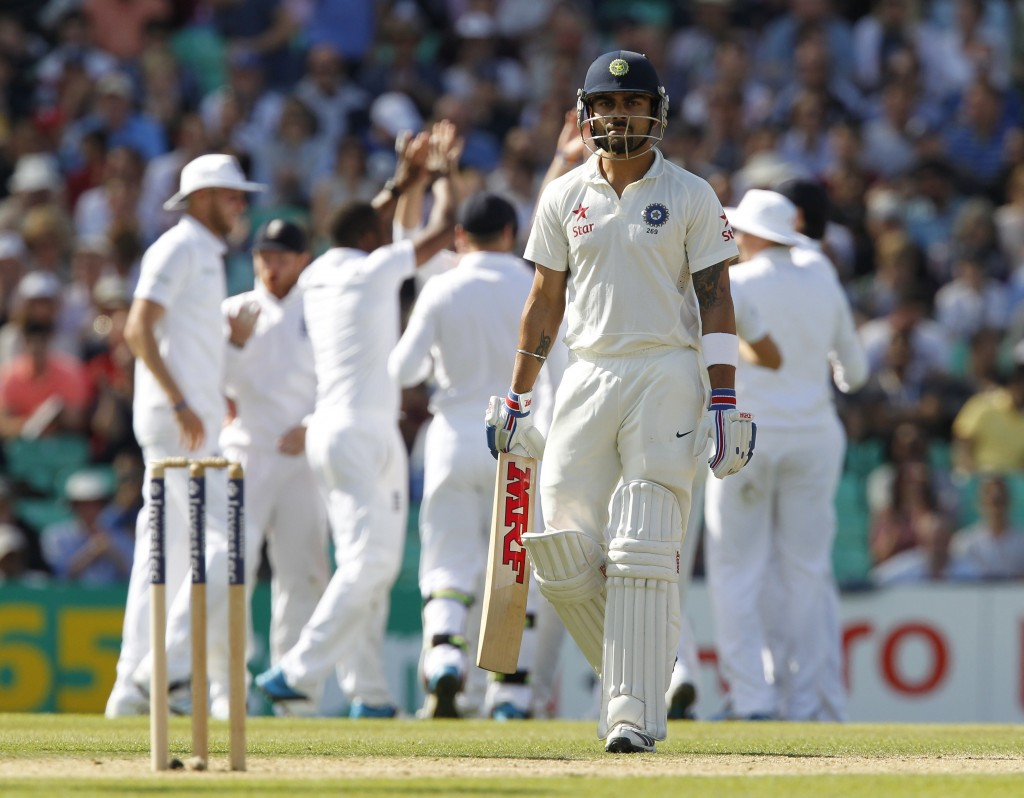 Kohli struggled during India's previous tour of England in 2014.