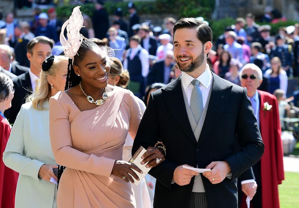Serena at the royal wedding.