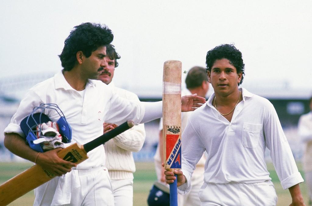 Tendulkar scored the first of his 51 Test tons.