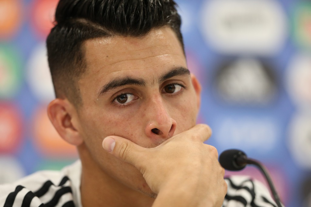 BRONNITSY, RUSSIA - JUNE 18: Cristian Pavon of Argentina looks on during a press conference at Stadium of Syroyezhkin sports school on June 18, 2018 in Bronnitsy, Russia. (Photo by Gabriel Rossi/Getty Images)
