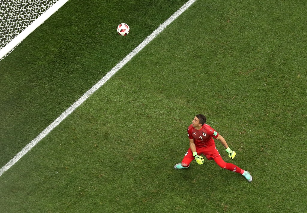 The usually reliable Fernando Muslera committed a howler for Griezmann's goal.
