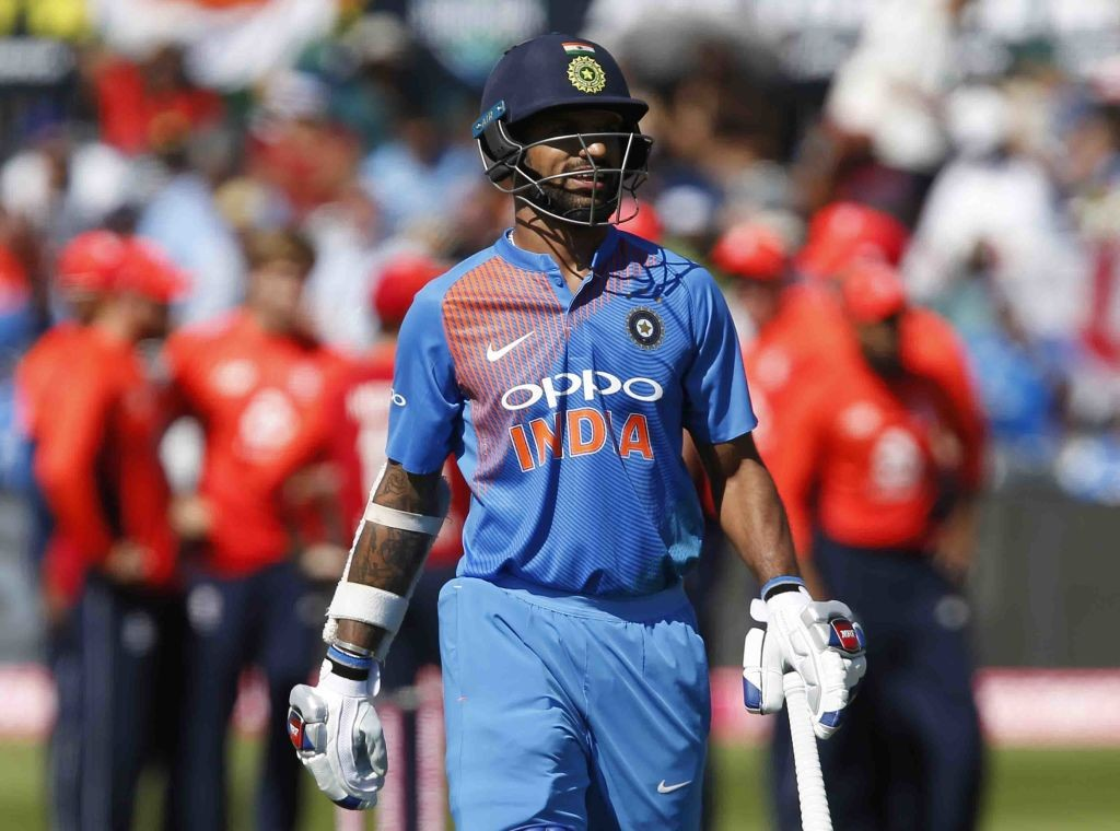 Dhawan was completely off-colour in the T20 series.