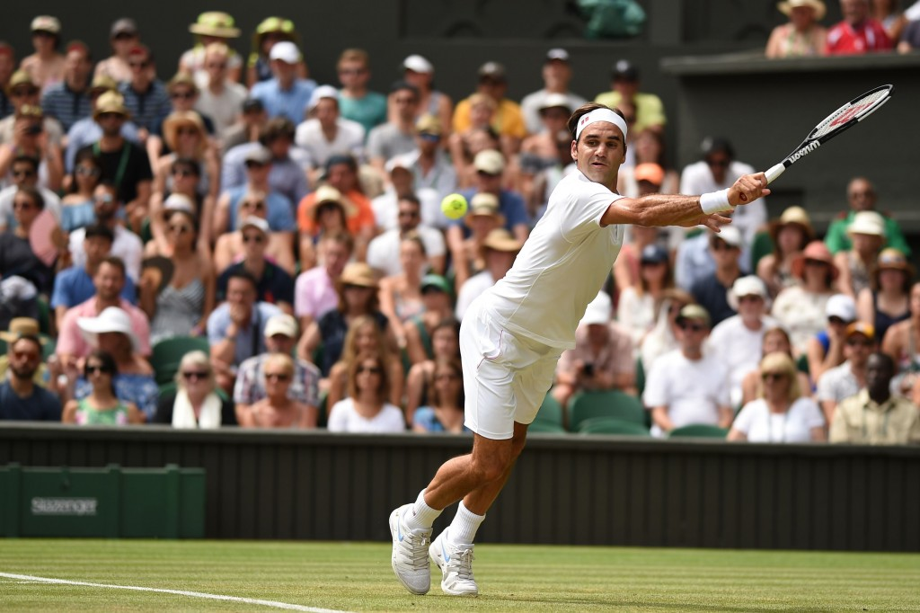 Federer saved three break points in the eighth game of the third set.