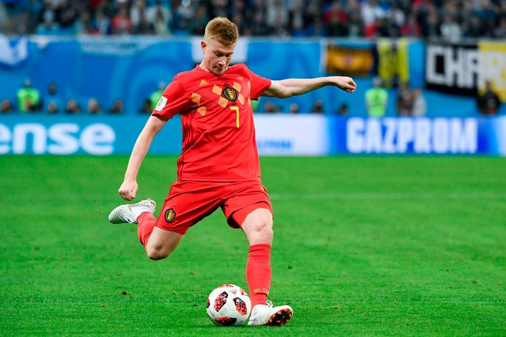 Kevin De Bruyne retained an advanced role.