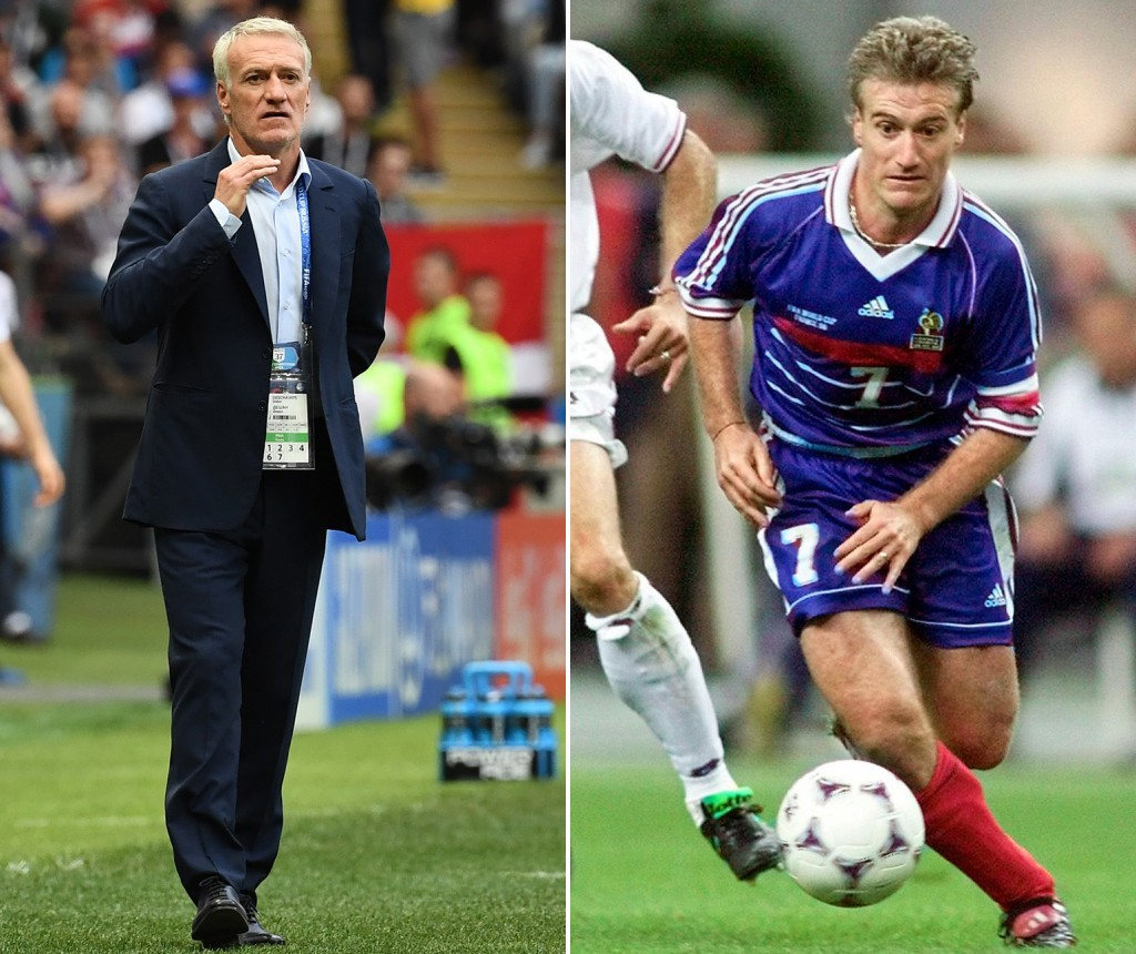 Combination of Didier Deschamps the head coach and player.