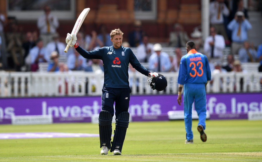 Root struck his 12th ODI ton and first at Lord's in England's win.