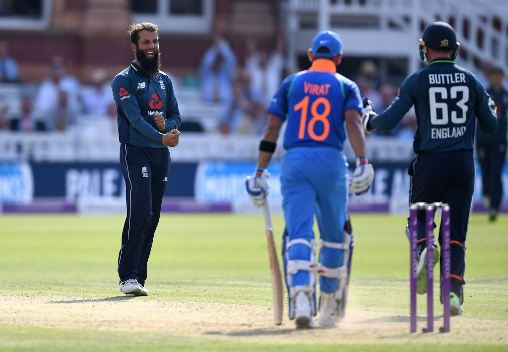 Kohli fell to Moeen Ali's off-spin at Lord's.