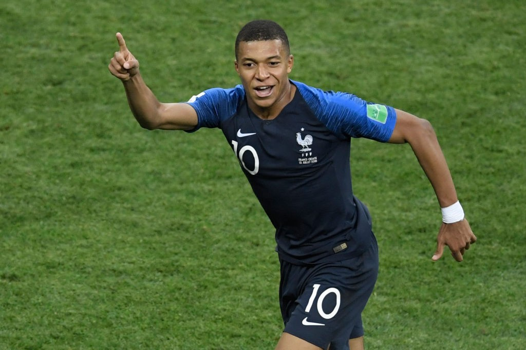Goals galore: Kylian Mbappe scored France's fourth.