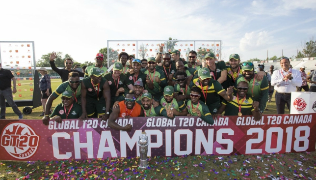 The champions. Image: Twitter @GT20Canada