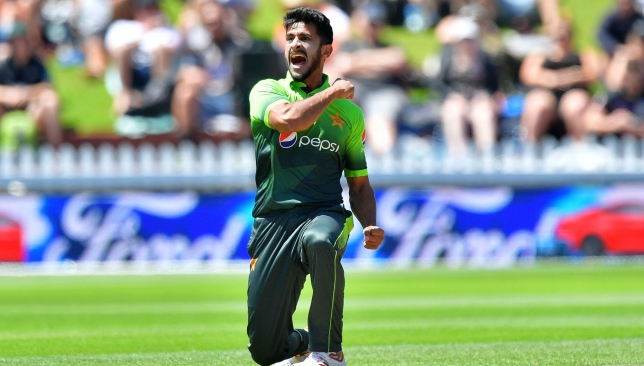 Hasan Ali had injured himself while celebrating during the second ODI.