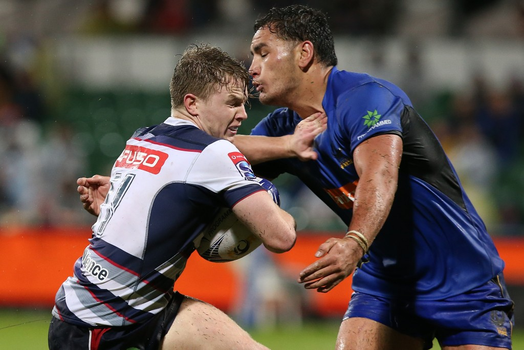 Hutchison playing for the Melbourne Rebels in Super Rugby