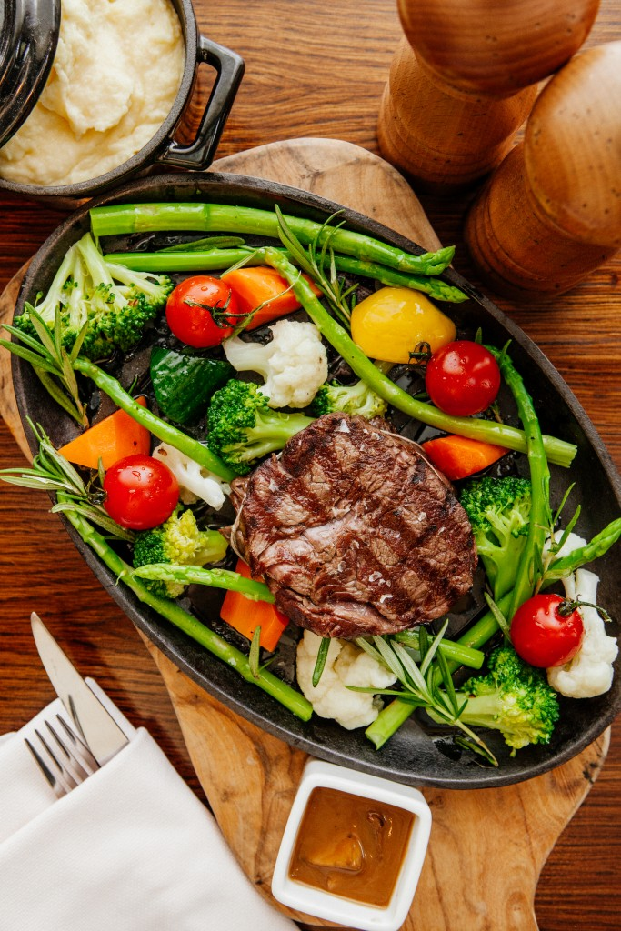 Hearty and healthy - char-grilled beef tenderloin