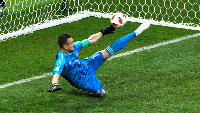 Russia goalkeeper Igor Akinfeev saves Iago Aspas' penalty that sent Spain home.