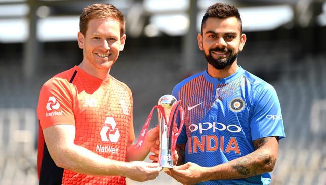 England captain Eoin Morgan and India skipper Virat Kohli.