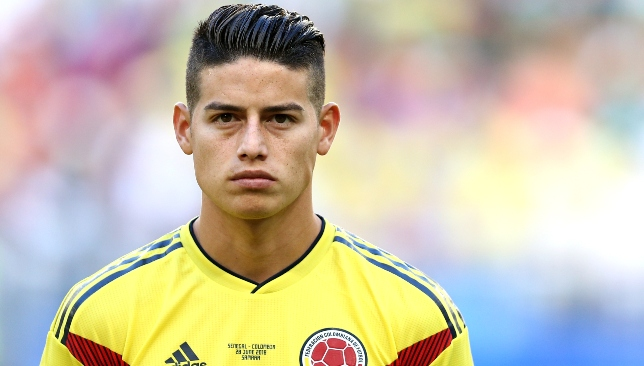 James Rodriguez endured an injury-hit World Cup with Colombia.