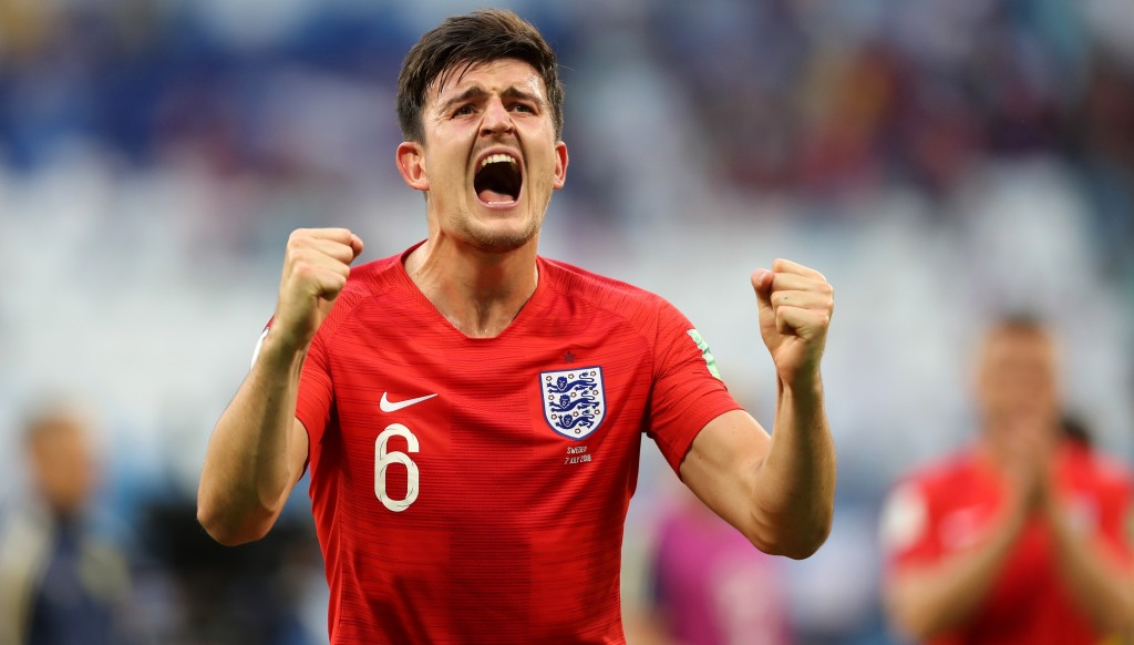 Leading light: Harry Maguire enjoyed a spectacular World Cup with England.