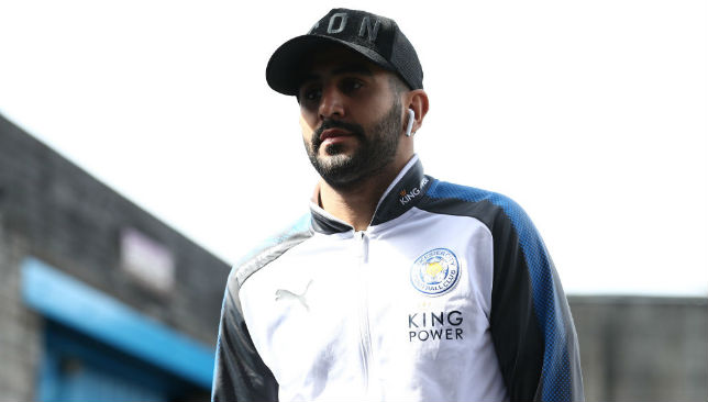 Mahrez of Leicester City arrives at the stadium