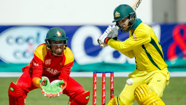 Maxwell's 58-run innings helped Australia to a five-wicket win.