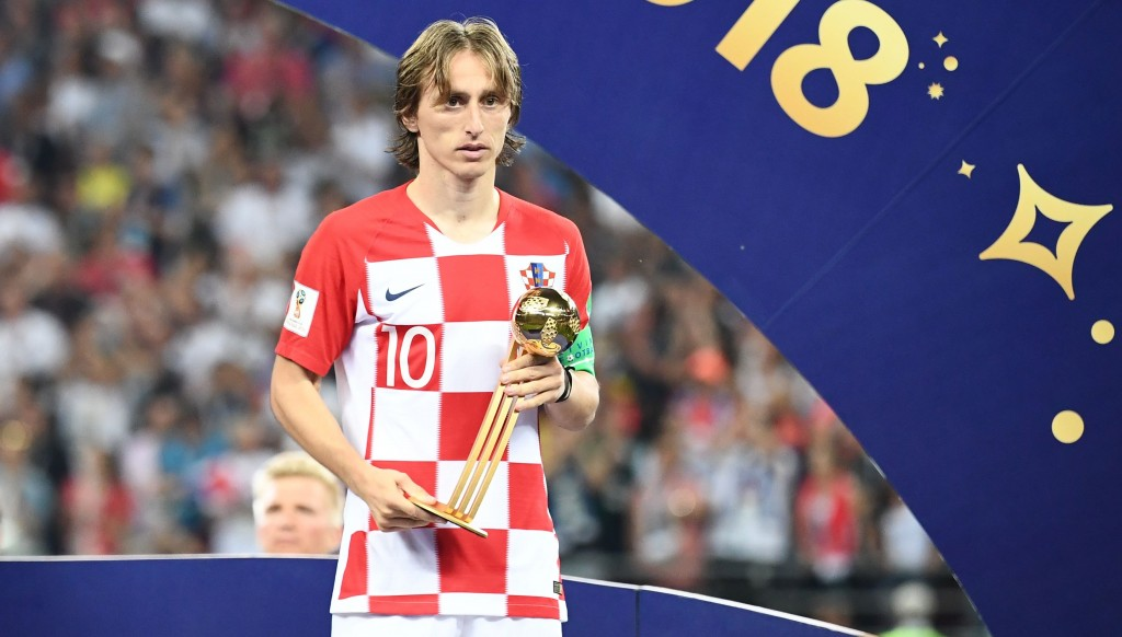 The Golden Ball was the first of many awards Luka Modric picked up this season.