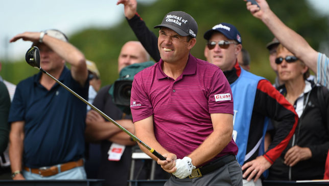 Padraig Harrington lost out in Prague.
