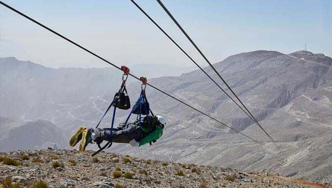The  Jebel Jais Flight zipline in RAK.