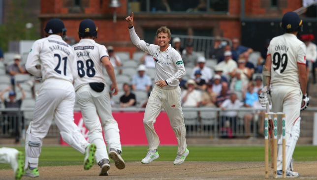 Joe Root took 4 wickets for just 5 runs for Yorkshire
