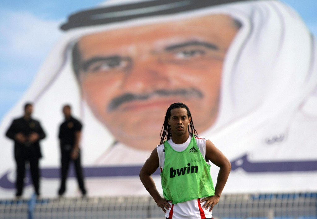 Ronaldinho in Dubai in 2009 during his time with AC Milan