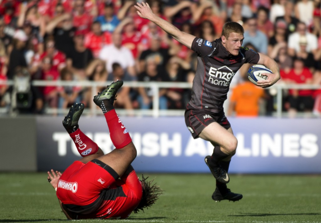 Scarlets' Johnny McNicholl scored a hat trick of tries in last year's final