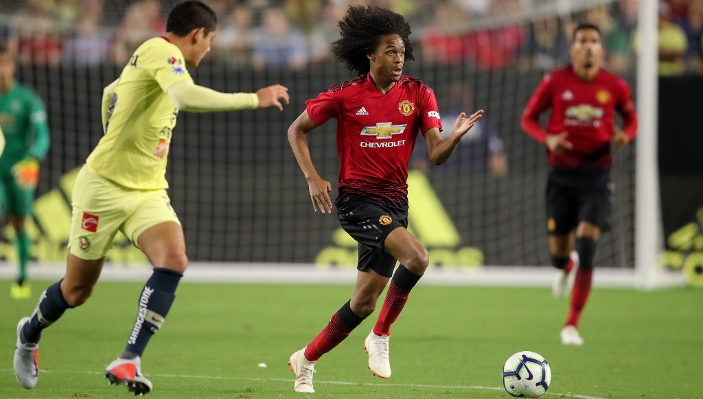 Tahith Chong is seen as an exciting talent at United.