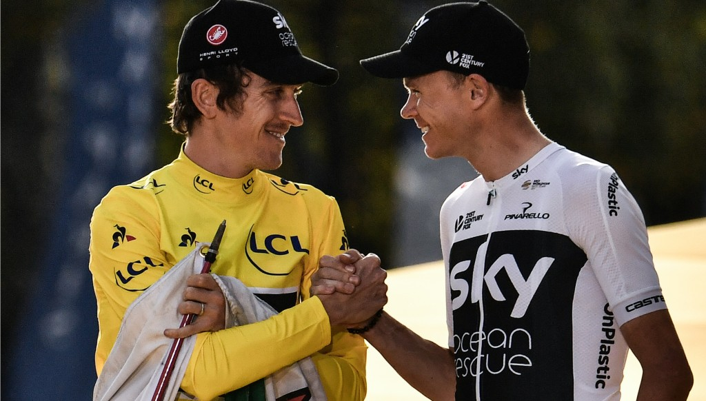Thomas had plenty of praise for teammate Chris Froome.