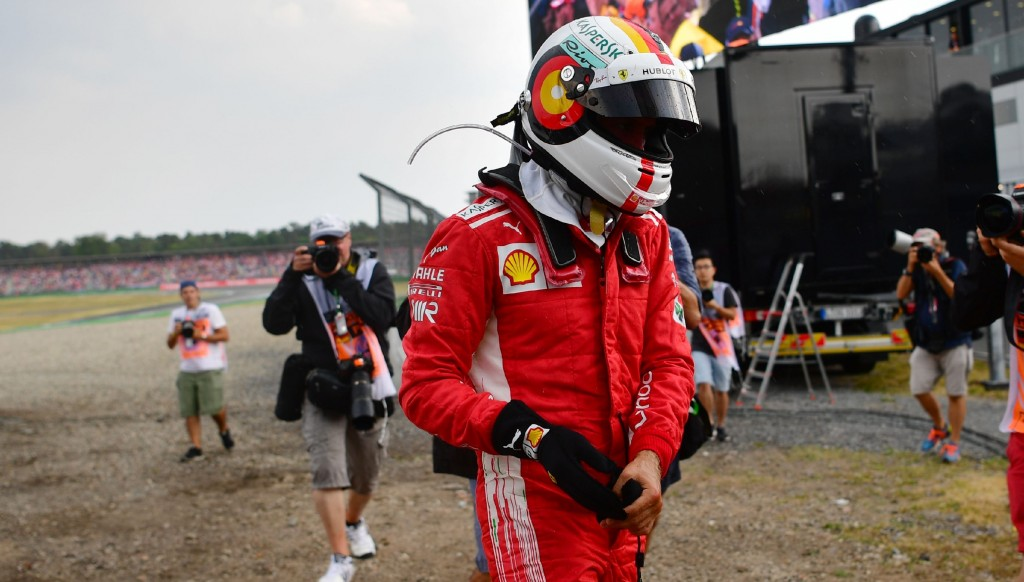 Sebastian Vettel crashed out of the German Grand Prix, the season's turning point.