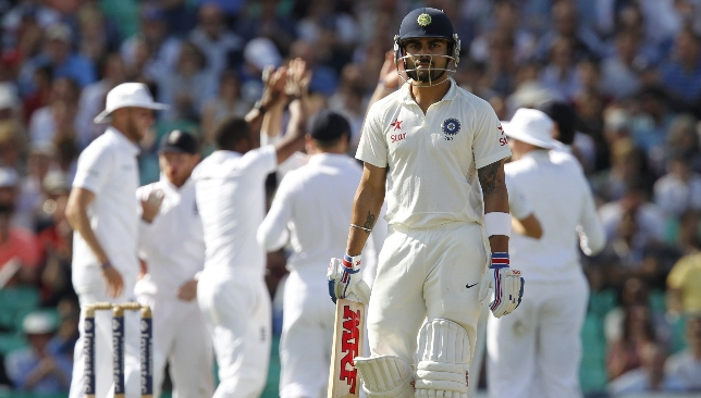 Virat Kohli had a troubled series in England in 2014.