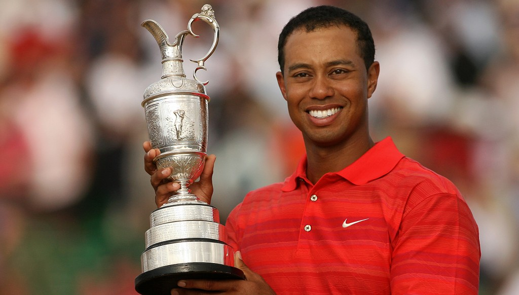 Tiger Woods won the last of his three Open titles in 2006.