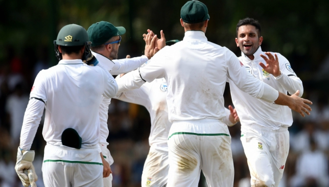 Maharaj accounted for eight of the nine wickets to fall on the first day.