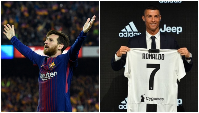 Top two: The debate goes on as Capello calls Messi the genius and Ronaldo Superman