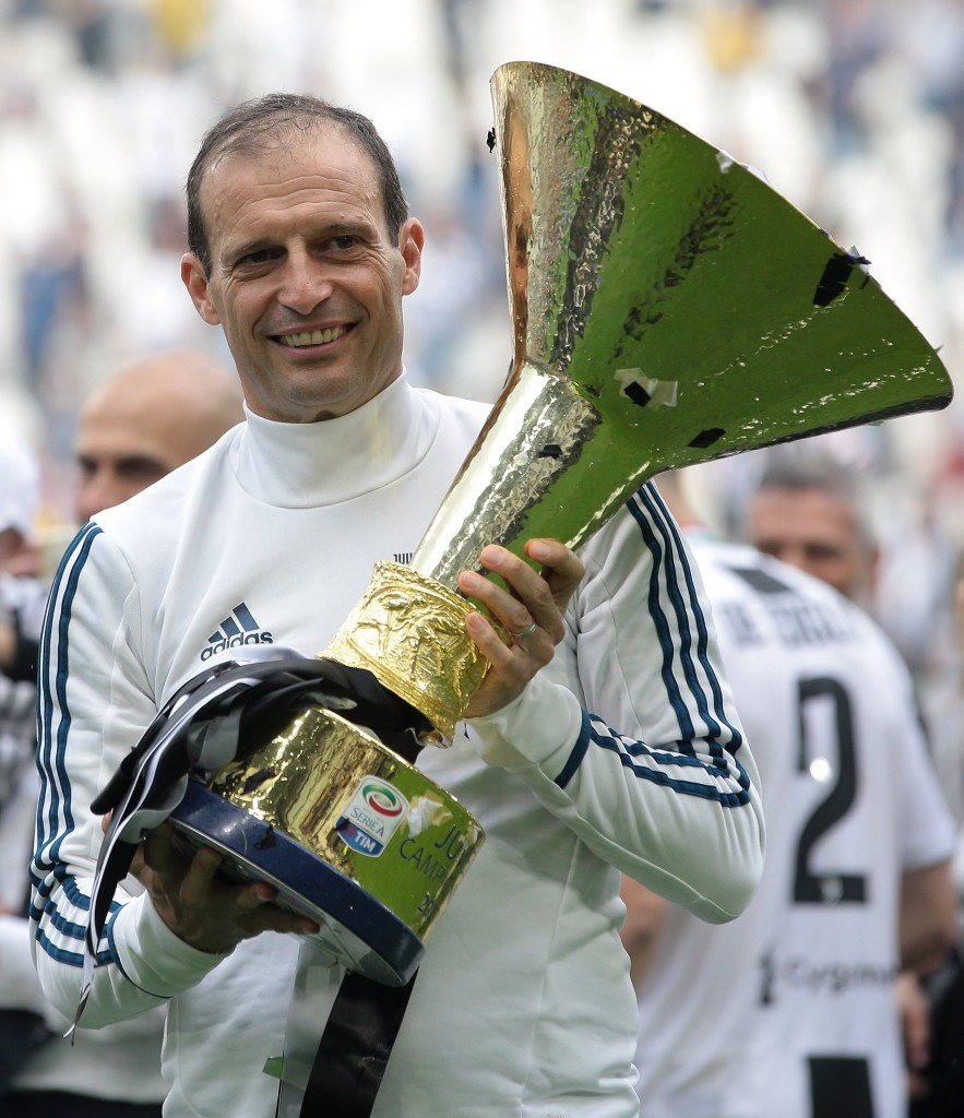 Allegri wants to be holding a different trophy at the end of this season.