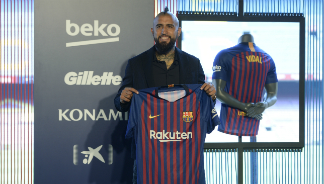 Vidal completed a transfer to Barcelona on Monday.