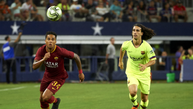 Justin Kluivert joined Roma this summer but dreams of playing for Barcelona.