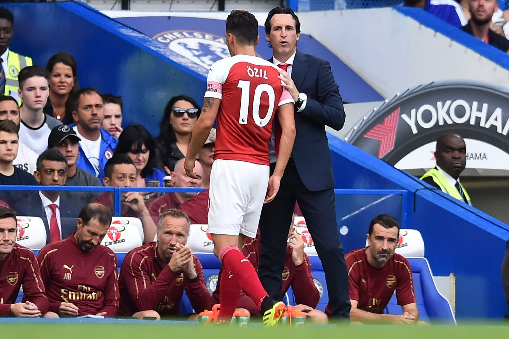 The relationship between Ozil and Emery is under scrutiny.