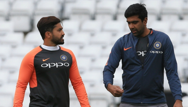 Ashwin (r) did not take part in the team's nets session on Monday.