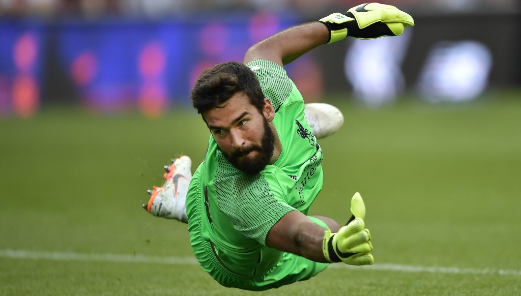 Alisson kept a clean sheet for Liverpool in his first match