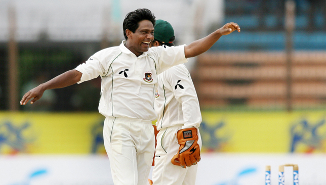 Bangladeshi bowler Mohammad Rafique impressed with the bat