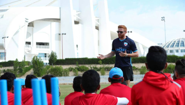 England's Jonny Bairstow at Abu Dhabi Cricket earlier this year