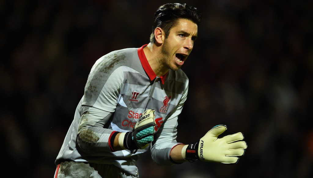 Jones was a back-up goalkeeper for Liverpool from 2011-15.